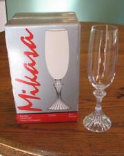 4 CHAMPAGNE FLUTES – Mikasa Lead Crystal – The Ritz pattern
