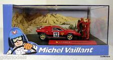 Michel Vaillant cartoon 1/43 scale diorama Leader Marathon model car + figures