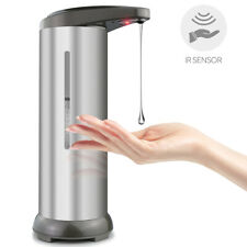 Automatic Soap Dispenser Stainless Visible Touchless Handsfree IR Sensor 280ml