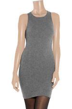 TOMAS MAIER BOTTEGA VENETA PURE CASHMERE SHIFT DRESS MARL GREY 42 Fr M UK £500