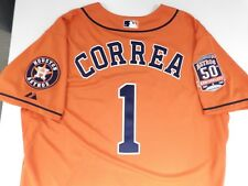 23eda0c212b CARLOS CORREA ASTROS AUTHENTIC JERSEY 2015 ALT 1 ORANGE 50TH ANNIVERSARY  SIZE 44