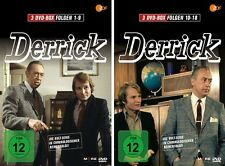 6 DVDs * DERRICK BOX 1 + 2 (FOLGE 1-18) IM SET - Horst Tappert # NEU OVP !