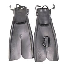 Apollo Bio-Fin Pro Swim Fins Split Open Heel LARGE Black Military Tactical NSW