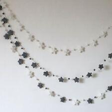 Star Garland,My First Room,White and Grey, 1M ,Star Nursery Decor,Bunting,Unisex