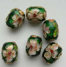 6 dell'era Maji Perline, Verde/Rosa. BARILE 12 x10 mm. gioielli/artigianato