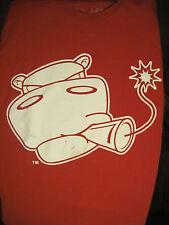 L red HIPPO SMOKING A DYNAMITE STICK t-shirt by DNH APPAREL