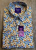 New Men's Small LIMITED EDITION Liberty Sunflower Print Shirt by Saffron Finch.