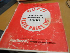 Moto Guzzi Spare Parts Price List Manual Catalog 1980