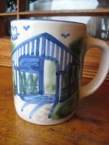 Mug M.A. Hadley Pottery COVERED BRIDGE
