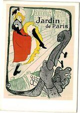 16.TOULOUSE LAUTREC - AFFICHE POUR LE JARDIN DE PARIS - EDIZ. FERNAND HAZAN - NR
