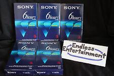 Brand New Lot of 5 Sealed Premium Grade Sony T-120VE Blank VHS Cassette Tapes