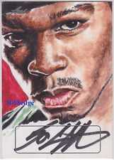 2016 POP CENTURY JENNIFER ALLYN SKETCH AUTO:50 CENT #1/1 OF ONE AUTOGRAPH RAPPER