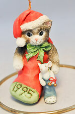 Calico Kittens: Kitten in Stocking 144304 - 1995 Holiday Ornament