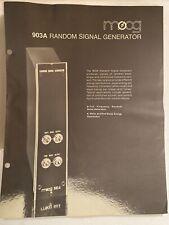 Moog Modular Data Sheet 903A Random Signal Generator