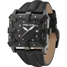 Police Defender Black Dial Leather Strap Mens Watch 13400JSB-02