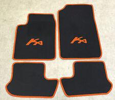 Autoteppich Fußmatten für Ford KA 1 schwarz-orange 1996'-2008' 4teilig Neuware