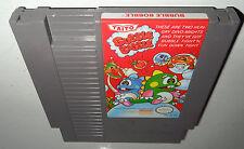 Nintendo NES Game BUBBLE BOBBLE! Cleaned! Super Fun Classic! HTF Puzzle Action