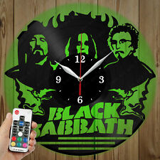 LED Vinyl Clock Black Sabbath LED Wall Art Decor Clock Original Gift 2675