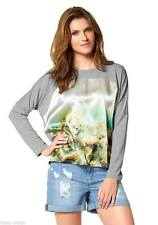 Langarm Damenblusen, - tops & -shirts ohne Kragen für Business-Passform