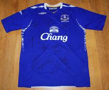 Umbro Everton autographed 2007/2008 home shirt (Size L)