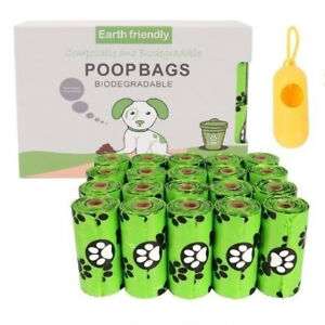 240/300 Compostable Dog Poo Bags Eco Friendly Bags Biodegradable FREE Dispenser