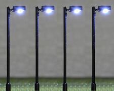 4 Black Street Lights - 12v - LED - SM047 OO Gauge