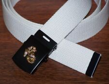 USMC Belt & Buckle Web Marine Corps Parade Dress Military Style Semper Fi P38