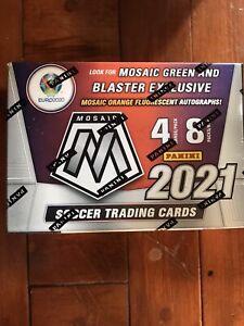2020-21 Panini Mosaic Soccer Euro Sealed Blaster Box In Hand Fast Shipping