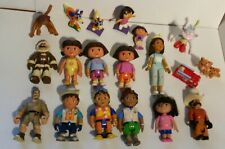 Dora the Explorer  Action Figures Lot 20 piece with Animals