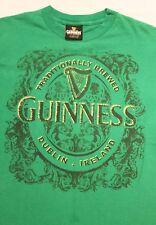 GUINNESS Beer Logo Green St. Patricks Day T-shirt Sz. M