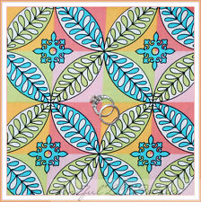 BonEful Fabric FQ Cotton Quilt VTG Block Paula Prass Lights Fancy Rainbow Flower
