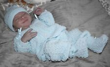 SWEET Knit Baby Doll Outfit For Reborn Infant Newborn BLUE
