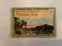 Vintage Omaha Nebraska Souvenir Fold Out Postcard Booklet