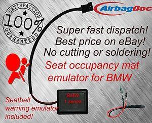 Seat occupancy mat bypass airbag warning light fix for BMW 1 series e81 e87 e83