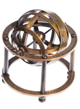 NAUTICAL COLLECTIBLE SOLID BRASS TABLE TOP ARMILLARY ZODIAC SPHERE GLOBE Gift