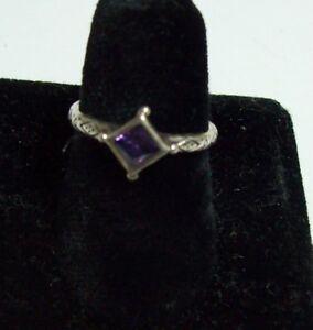 SILPADA Sterling & Amethyst Simple Ring