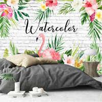 Pink Bird Flower 3D Full Wall Mural Photo Wallpaper Printing Home Kids Decor