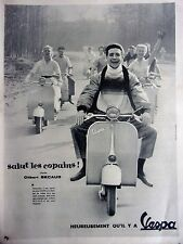 publicité    de presse VESPA avec Gilbert Becaud    en 1957  ref. 26405
