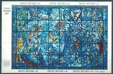 United Nations 1967 M/S Chagall Stained Glass Window MNH