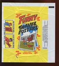 1968 Topps Funny Travel Posters Non Sport Trading Card 5 Cent Wax Wrapper