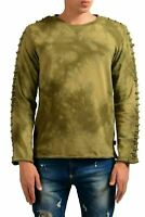 Just Cavalli Men's Green Long Sleeve Crewneck Sweatshirt US M IT 50