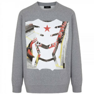 Givenchy Mens Star Racer Tribal Sweatshirt - Oversized S Small - New/tags