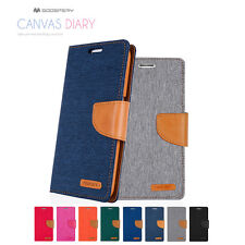 iPhone X 8 7 6 S Plus Mercury Hard Leather Wallet Card Case Canvas Flip Cover