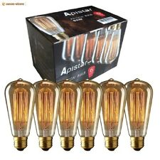 Edison Vintage Pack 6 Bulb Light Bulbs Filament 60w E26 Incandescent Led Squirre
