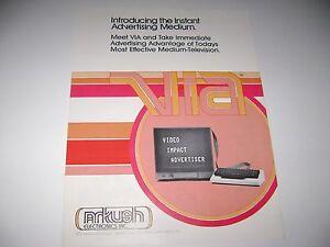 1970's Arkush Electronics Video Impact Advertiser Original sales flyer brochure