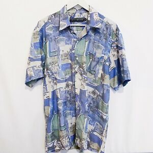 Alexander Abstract Vintage 90's Button Shirt Mens Large