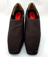 J. Renee Brown Embossed Patent Leather Womens Shoes Size 7M Fabric Slip On