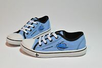 CRONULLA SHARKS NRL SENIOR FOOTY FEET KIDS CANVAS SHOES WITH LACES SZ 1-5
