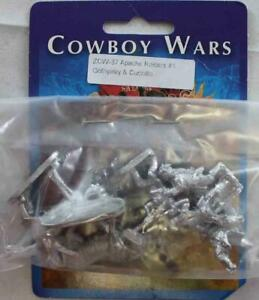 Old Glory Cowboy Wars 25mm Apache Raiders #1 - Cothyalay & Cuchillo Pack New