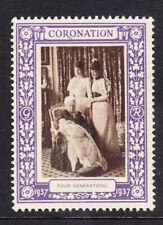"GB 1937 Coronation ""Purple""  Four Generations -  Mint"